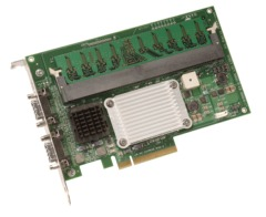 LSI Logic MegaRAID SAS 8480E 3Gb/s 8-port External PCI-Express SAS RAID Controller. 256MB & BBU